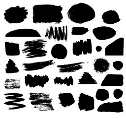 Rough edge shapes. Hand drawn brush background. Ink box.