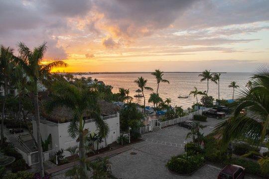 Sunset at a Resort in Key Largo, Florida