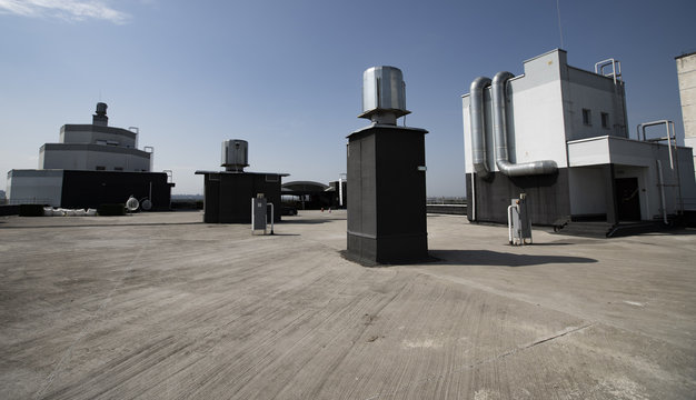 roof of the building, communications on the roof
