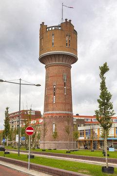 Historic water tower at Den Helder, The Netherlands