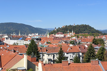 View of Graz from Neue Technik Building, Austria
