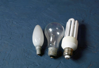 Bunch of electric lamps
