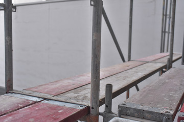 Construction Site - framework - poles and planks