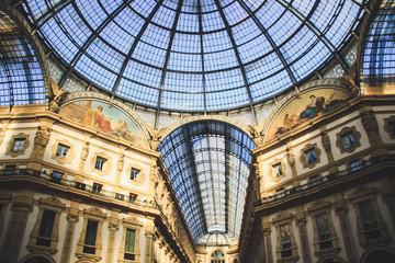 Keuken foto achterwand Milan Gallery Vittorio Emanuele II, Milan, Italy.Gothic architecture. Steel and arches.