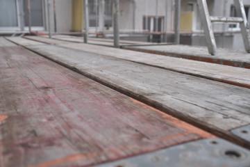 Construction Site - framework - planks