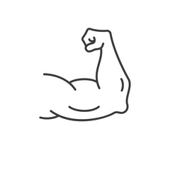 Strong muscles icon. Vector