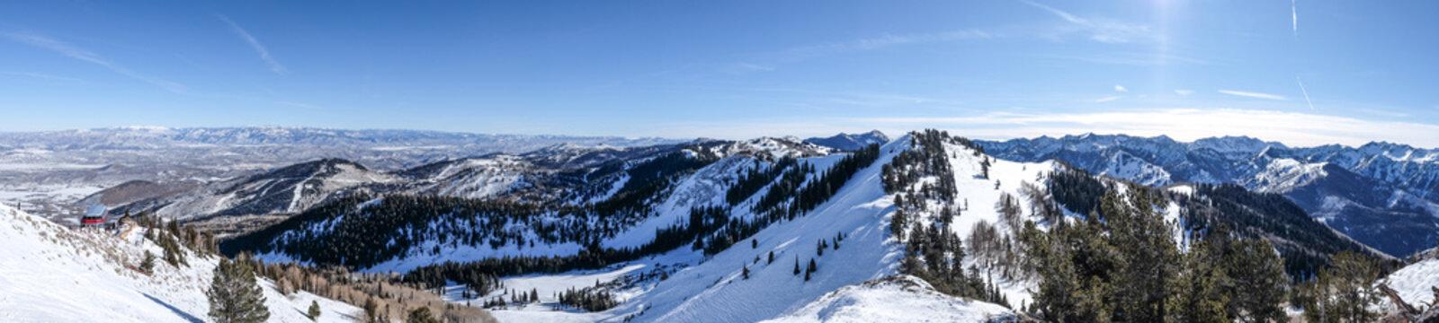Ski/snowboard Backcountry - deserted area - snow capped - park city, utah