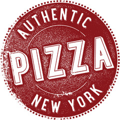 New York Pizza Vintage Sign