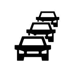 Car traffic jam symbol and sign illustration on white background.