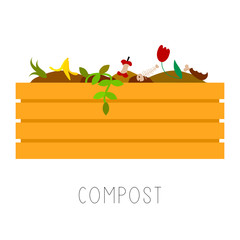 Compost vector illustration