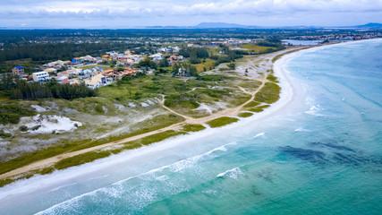 Aerial view of the beach of Pontal de Arraial do Cabo
