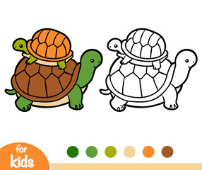 Coloring book, Two tortoises