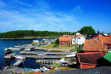 Fishing port in Sandhamn