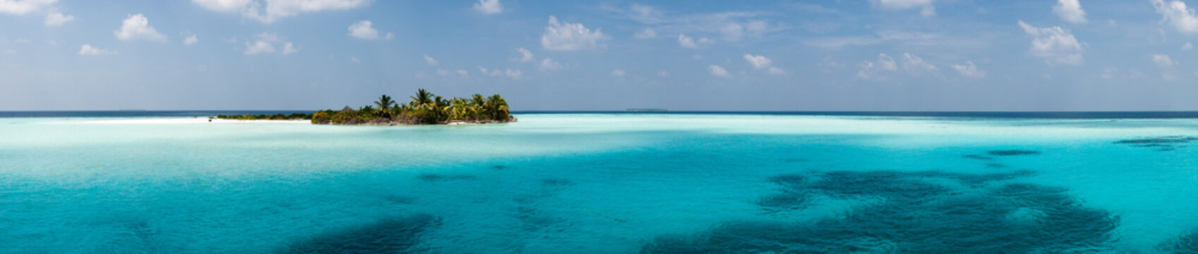 Maldives - Panorama de l'île d'Hamza