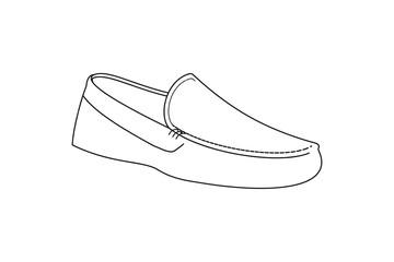 Shoe Mono Line Logo design inspiration Isolated On white Backgrounds