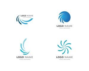 Business logo, vortex, wave and spiral icon