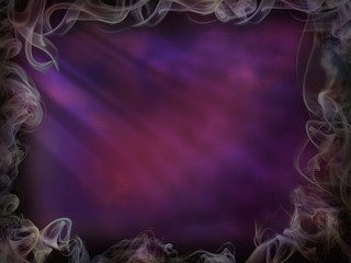 Magic background smoke for Halloween purple pink light wall