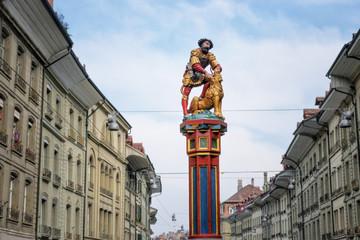 Statue Samson Fountain, Bern, Switzerland
