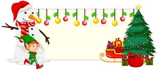 Christmas festive banner concept