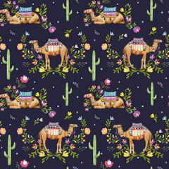 Watercolor camel pattern