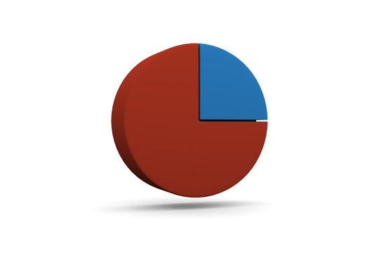 Pie Chart, Graph, 25%, Quarter