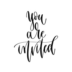 you are invited - hand lettering overlay typography element
