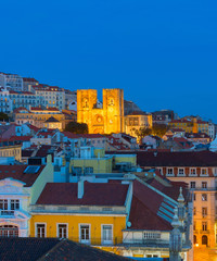 Fototapete - Old Town Lisbon Cathedral Portugal