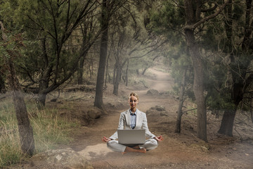 Finding inner balance. Mixed media