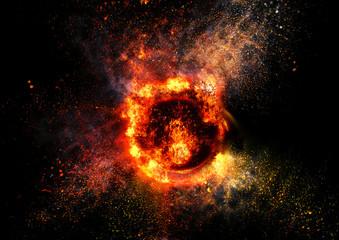 抽象的な炎のリング