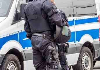 Schutz durch die Bereitschaftspolizei