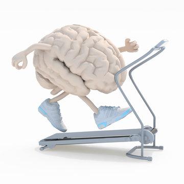 human brain on a running machine