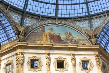 Gallery Vittorio Emanuele II, luxury shopping mall, Milan, Italy