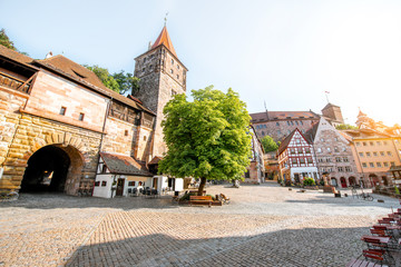 Old town of Nurnberg city, Germany