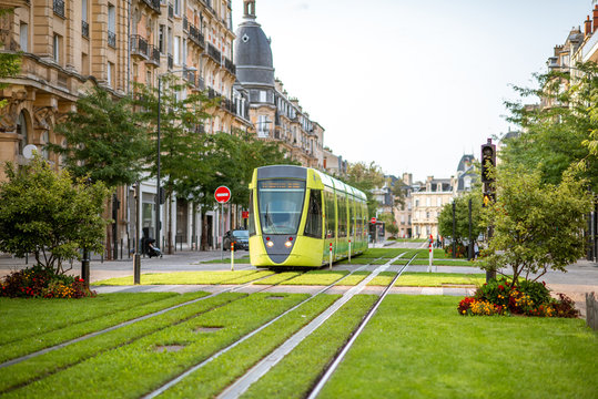 Street view in Reims city, France