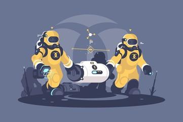 Radioactive weapon waste capsule.