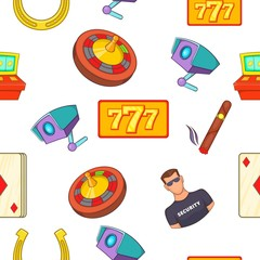 Gambling house pattern. Cartoon illustration of gambling house vector pattern for web