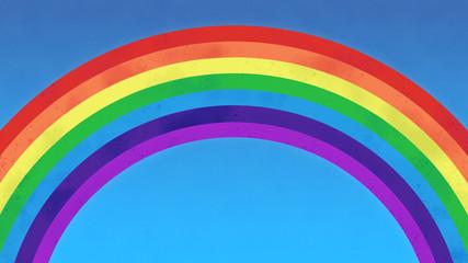 Rainbow With Blue Sky. High Quality background