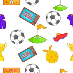 Football pattern. Cartoon illustration of football vector pattern for web