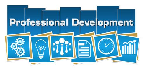 Professional Development Business Symbols Blue Squares Stripes