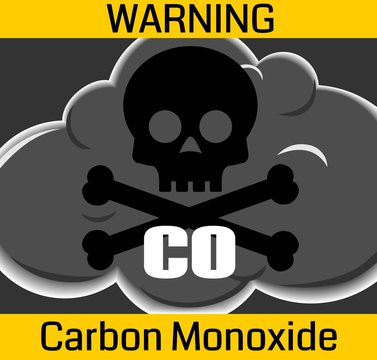 Carbon Monoxide Poisonous Gas Warning Sign
