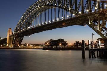 Sydney Harbour Bridge twilight view