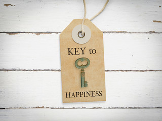 Key to happiness - concept