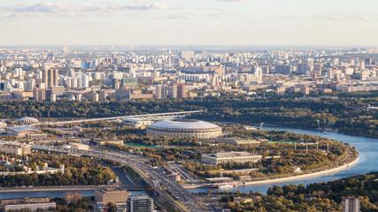 panoramic view of Luzhniki arena stadium in Moscow