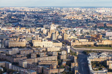 center of Moscow with Bolshaya Dorogomilovskaya