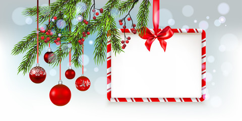 Nature Christmas tree banner