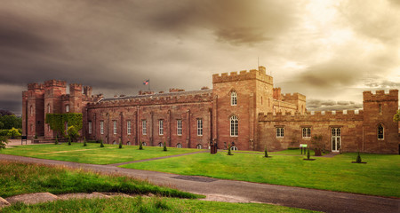 Scottish Scone Palace, where kings were crowned, near Perth.