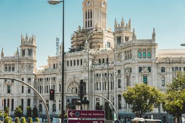 Fotobehang Madrid Architecture of Madrid under renovation. Buildings of Spain being restored