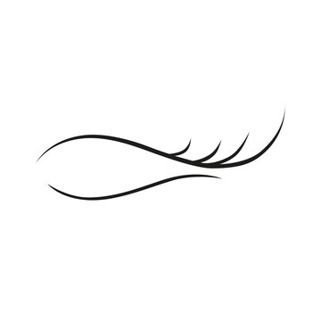 Eyelash extension on white background logo icon