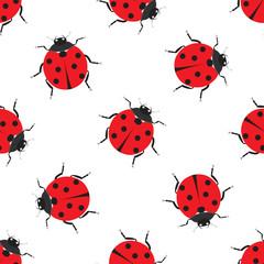 Ladybug seamless pattern design