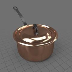 5 quart copper saucepan
